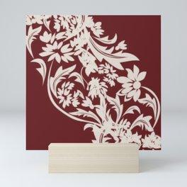 Elegant Red and White Mini Art Print