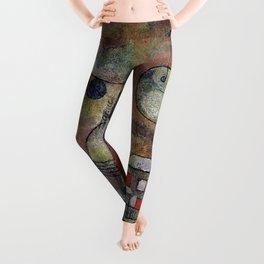 """Paul Klee """"Schicksalstunde um dreiviertel zwölf (Fate hour at three-quarters twelve)"""" Leggings"""