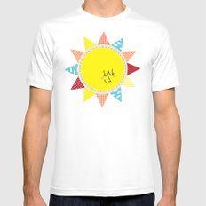 In the sun White Mens Fitted Tee SMALL