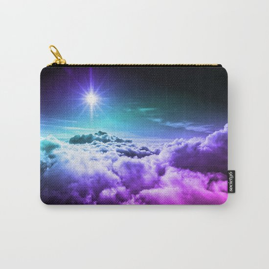 Cool Tone Ombre Clouds Carry-All Pouch