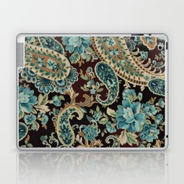 Brown Turquoise Paisley Laptop & iPad Skin