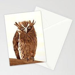 Golden Eyed Owl Stationery Cards