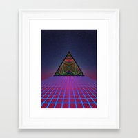 sci fi Framed Art Prints featuring Sci-Fi by Mr. Power