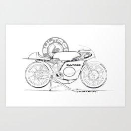 Bultaco Vintage Motorcycle Art Print