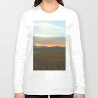 industrial Long Sleeve T-shirts featuring Industrial sunset. by Mikhail Zhirnov