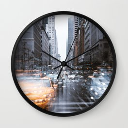 Streets as grey as my mood Wall Clock