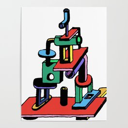 stack piece Poster