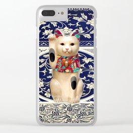 Maneki Neko (Lucky Cat) I Clear iPhone Case