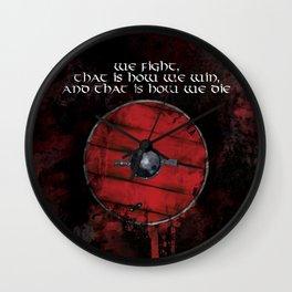 Ragnar's Shield Wall Clock