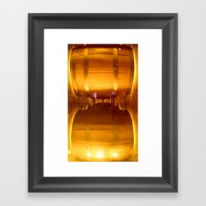 Wine Barrels Framed Art Print