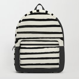 Charcoal Gray x Stripes Backpack