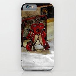 Life Goals - Ice Hockey Goalie Motivational Art iPhone Case