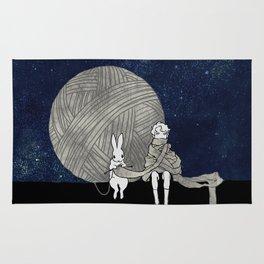 long scarf (moon) Rug