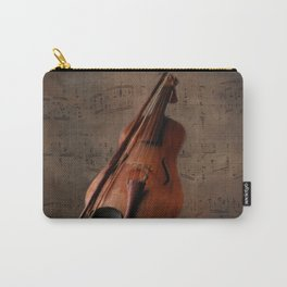 Painting Vintage Violin Carry-All Pouch