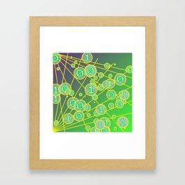 Random bits Framed Art Print