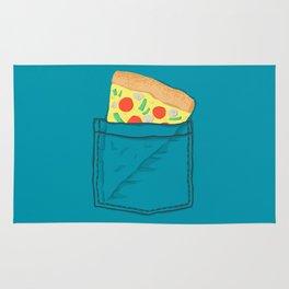 Emergency supply - pocket pizza Rug