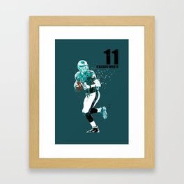 Carson Wentz #American football player on green Framed Art Print