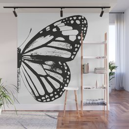 Monarch Butterfly | Right Butterfly Wing | Vintage Butterflies | Black and White | Wall Mural