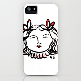 Ms. Red iPhone Case