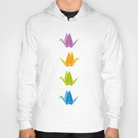 origami Hoodies featuring ORIGAMI by taichi_k