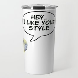 Cockatiel Style - bird quote Travel Mug