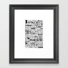 Word Framed Art Print