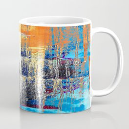 Golden Dawn, Abstract Landscape Art Coffee Mug