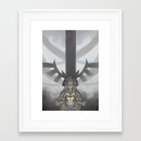 legend of zelda Framed Art Prints featuring Zelda by hachiyuki