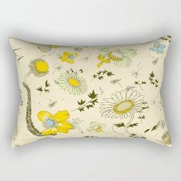 large flowers - cream and yellows Rectangular Pillow