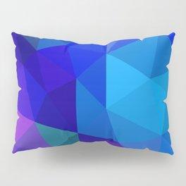 Sapphire Low Poly Pillow Sham