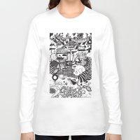 doughnut Long Sleeve T-shirts featuring Doughnut City by Adam Travers