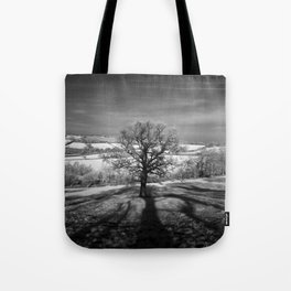 Lone tree over the East Somerset Railway Tote Bag