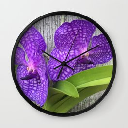 Tree Orchid Wall Clock