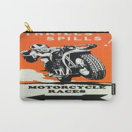 Vintage poster - Motorcycle Races Carry-All Pouch