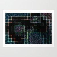 tetris Art Prints featuring Tetris by Audrey Erickson