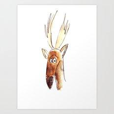 Suspicious Stag Art Print
