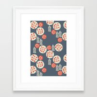 confetti Framed Art Prints featuring confetti by jennifer judd-mcgee