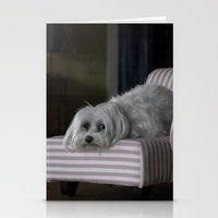sofa Stationery Cards featuring Me and My Sofa by Anthony M. Davis