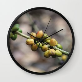 Illustration Coffee Beans Wall Clock