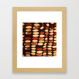 Irregular circles - ethnic theme Framed Art Print