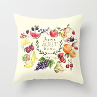 home sweet home Throw Pillows featuring Home Sweet Home by Brooke Weeber