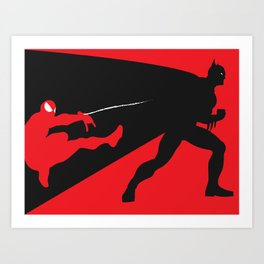 Marvel Vs DC Art Print