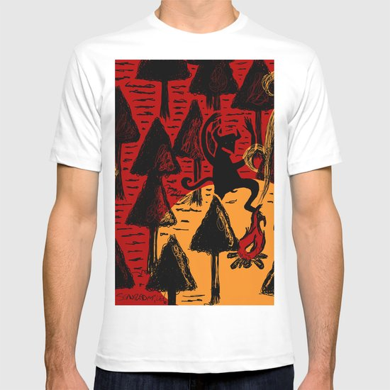 the dancing monster in the woods T-shirt