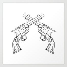 Botanical Revolvers Art Print