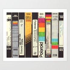 VHS Detail Art Print