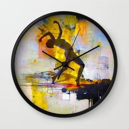 Dance among the colors Wall Clock