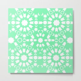 Peppermint Arabesque Metal Print