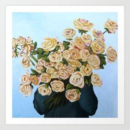 Golden Blooms Art Print