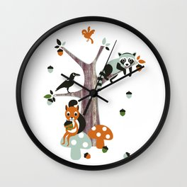 Friends of the forest Wall Clock