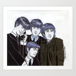The Fabulous Four Art Print